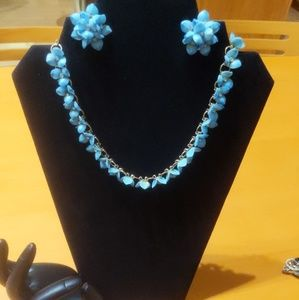 Vintage Necklace & Earrings Set